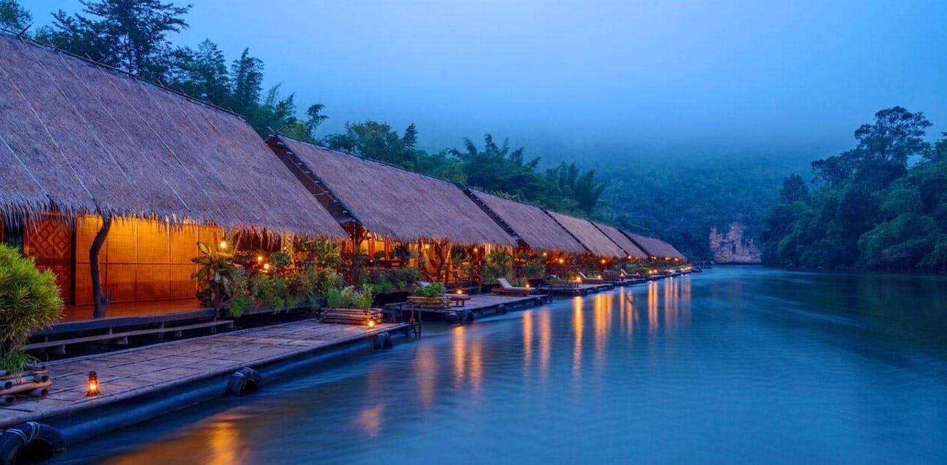 River Kwai Jungle Rafts at sunset