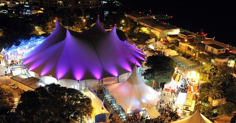 big top at monte carlo international circus festival