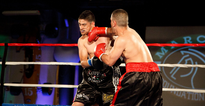 boxers fighting at fight for children fight night