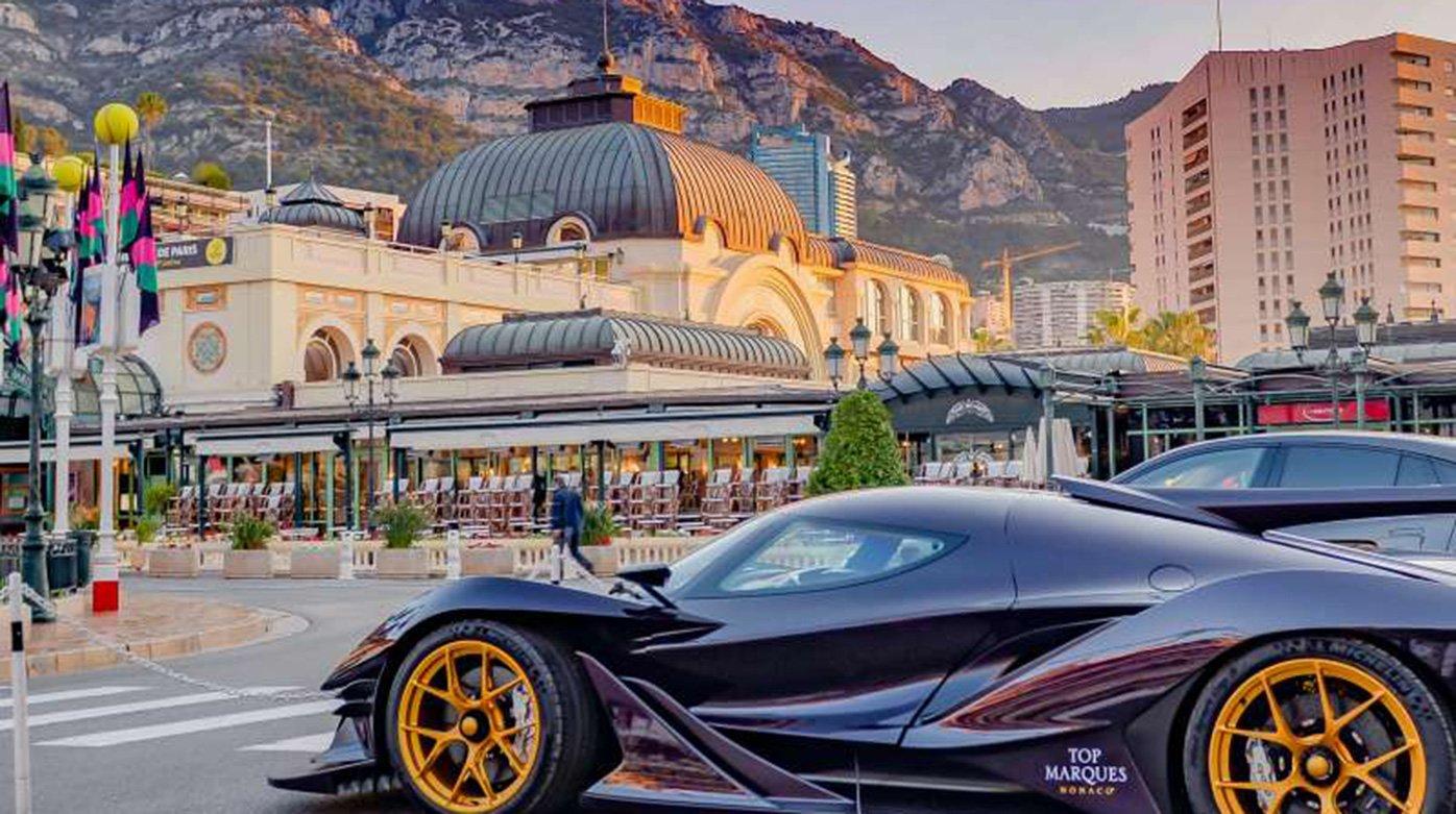 sports car at top marques monaco