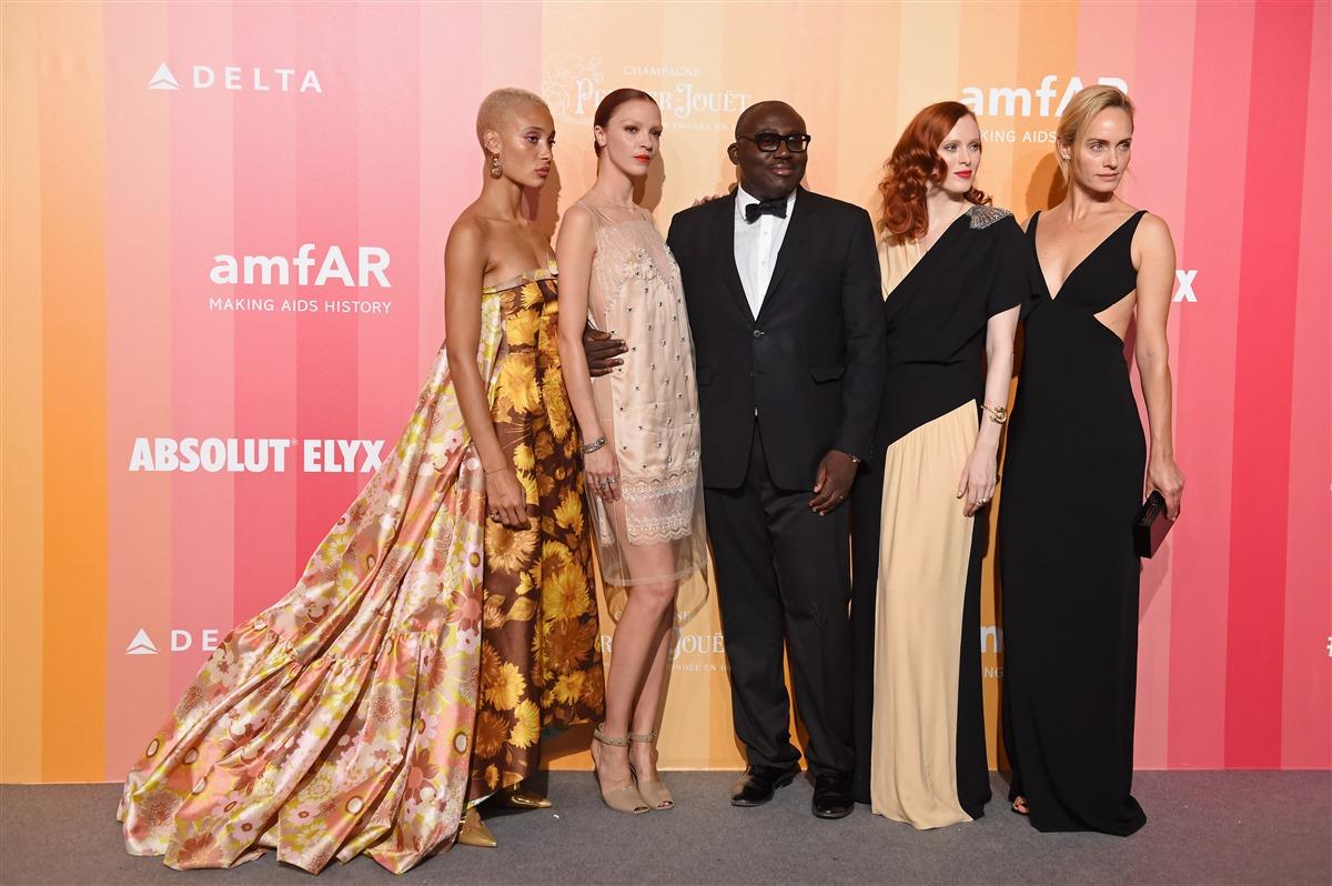 Models at amfAR Gala Milan