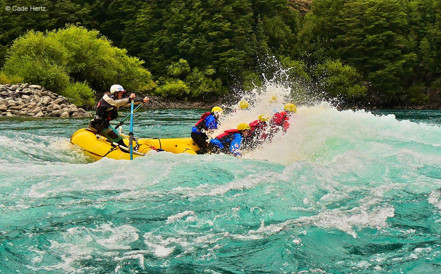 white water rafting on magpie river big crashing waves