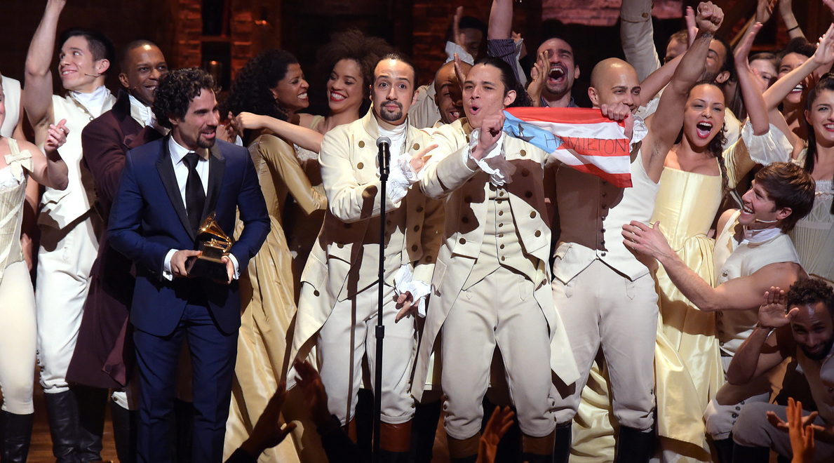 Hamilton cast award ceremony