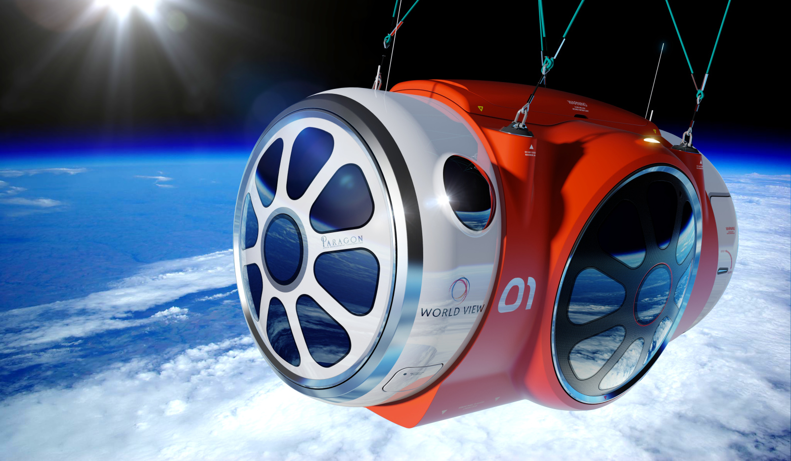 red capsule of the world view space experience