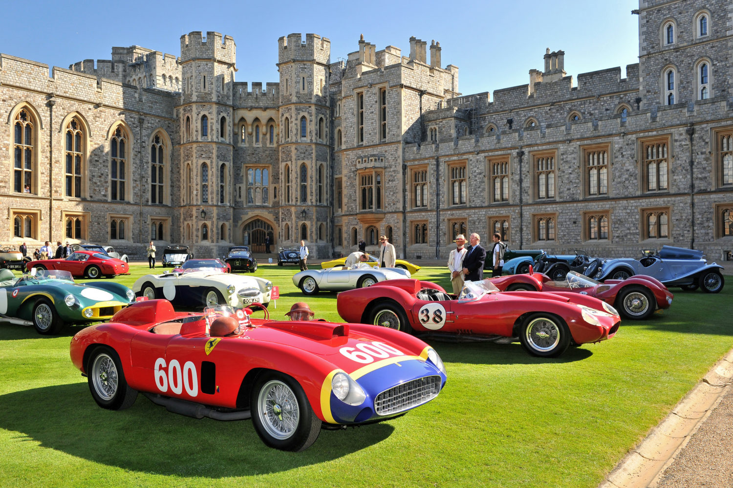 concours of elegance classic cars in front of palace