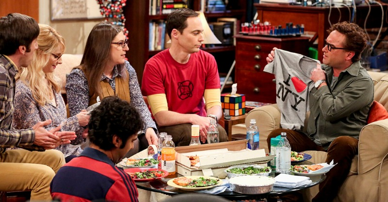 big bang theory cast on set