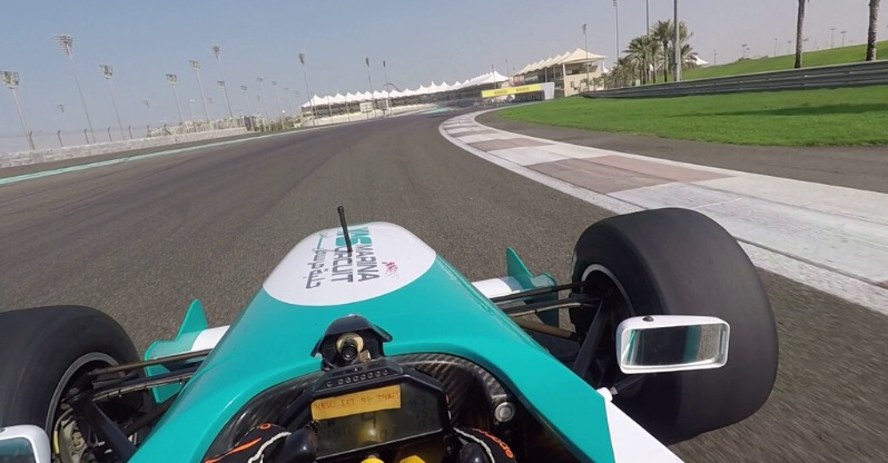 F3000 Experience car racing at Yas Marina track
