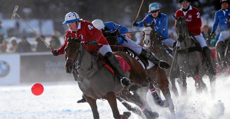 cartier snow polo world cup riders