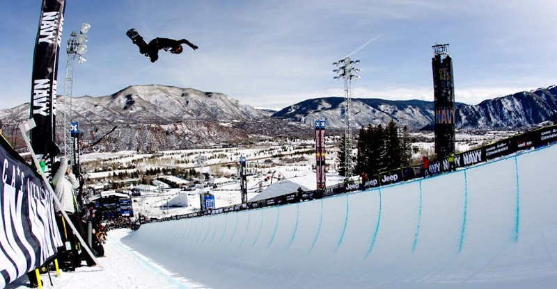 x games aspen snowboarder and half pipe
