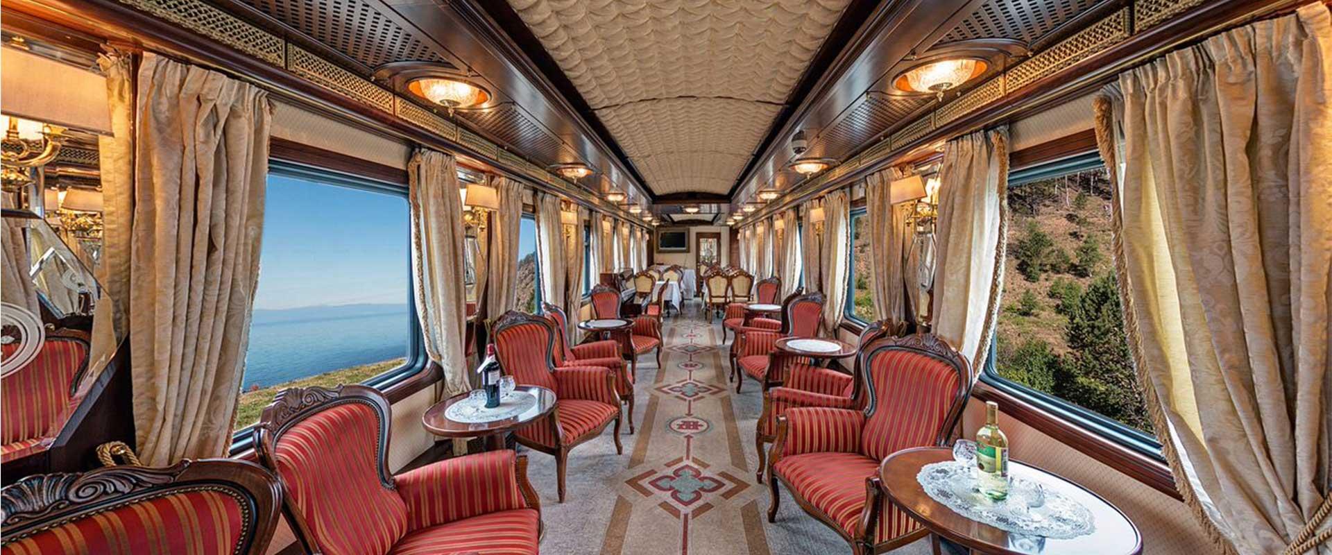 luxury interior of the trans-siberian railway