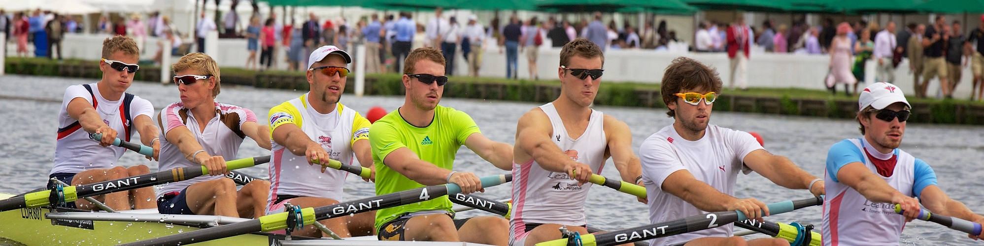 henley regatta rowers on the river