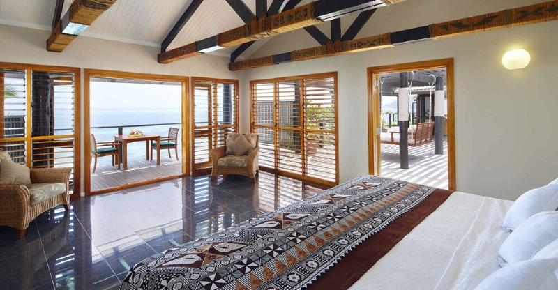 interior of villa on your own private island
