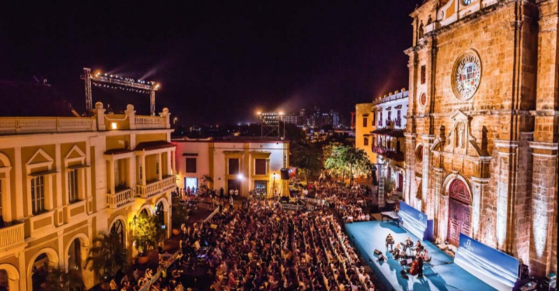 Cartagena Festival of Music audience and stage