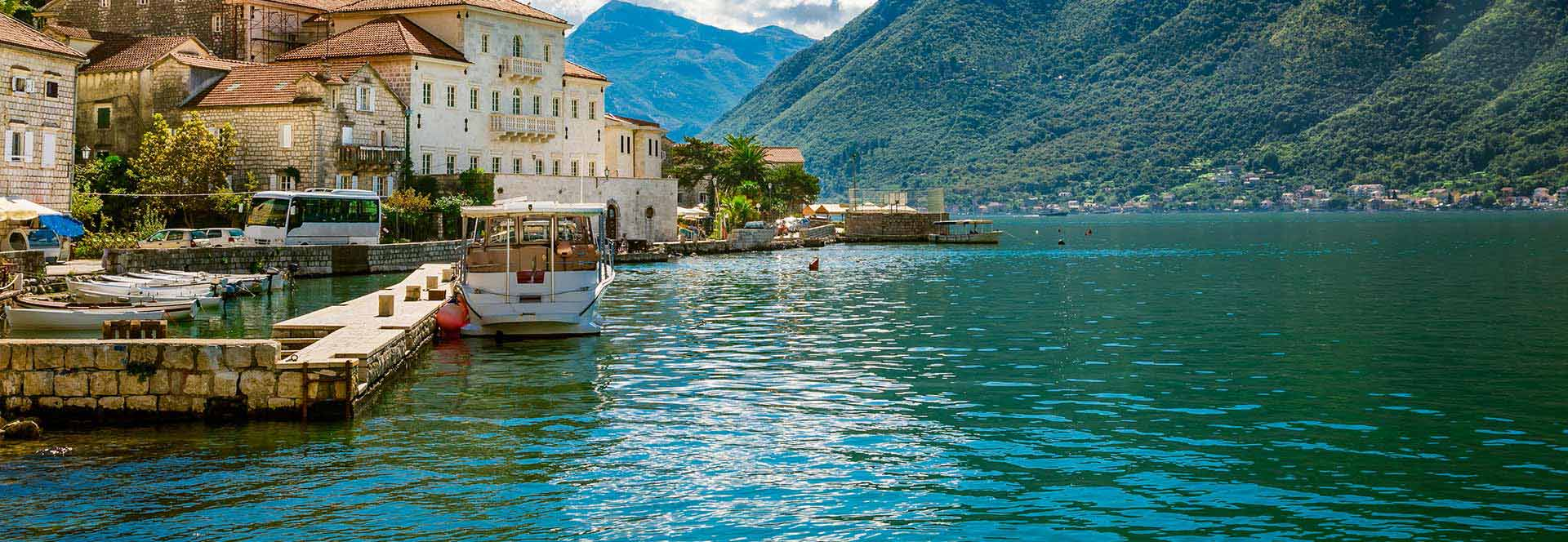 quayside and sea on balkans tour