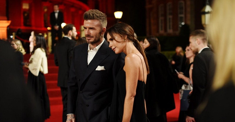 posh and becks at british fashion awards