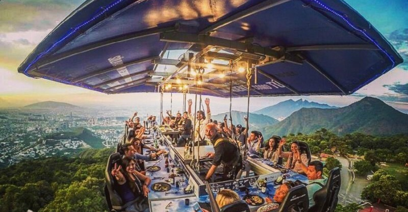 Dinner in the sky Teotihuacan, Mexico