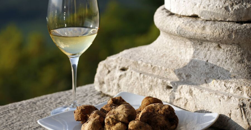 truffles and champagne