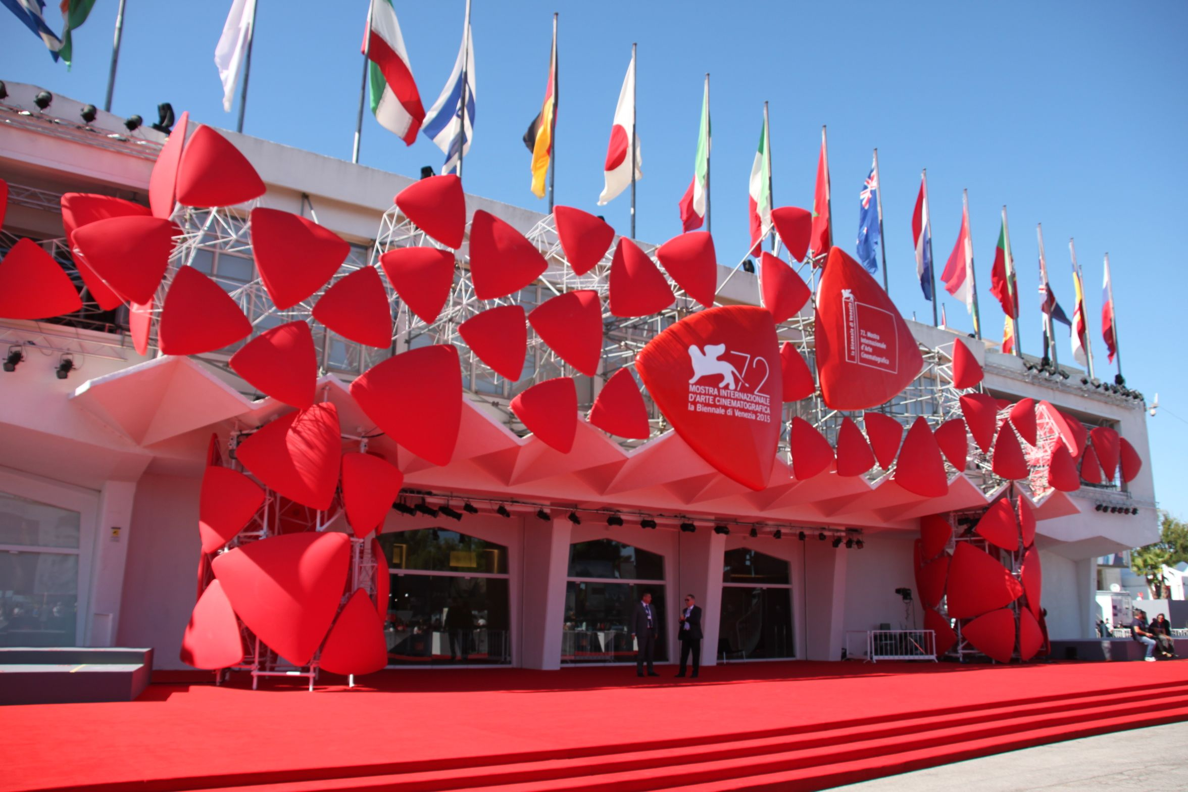 outside decoration at venice film festival