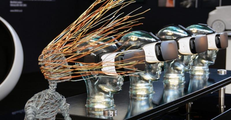 London art fair sculpture with wire hair