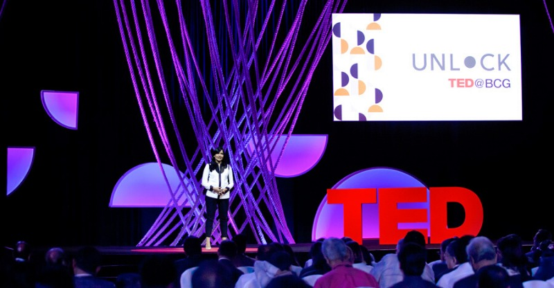 Unlock presentation at the TED Talks Conference
