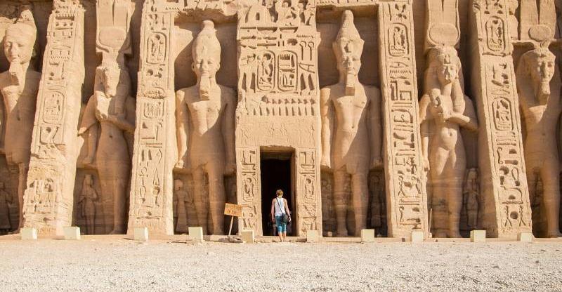 Entering the temple at the Abu Simbel Sun Festival