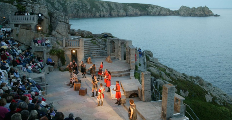 Evening performance at the Minack Theatre Cornwall