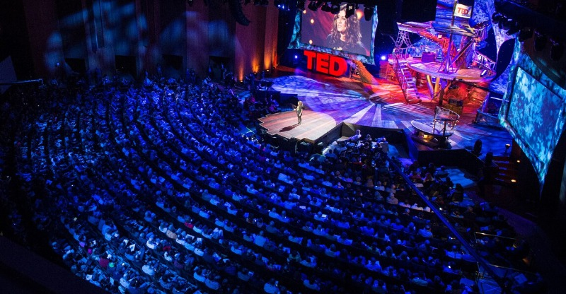 Huge audience at the TED Talks Conference