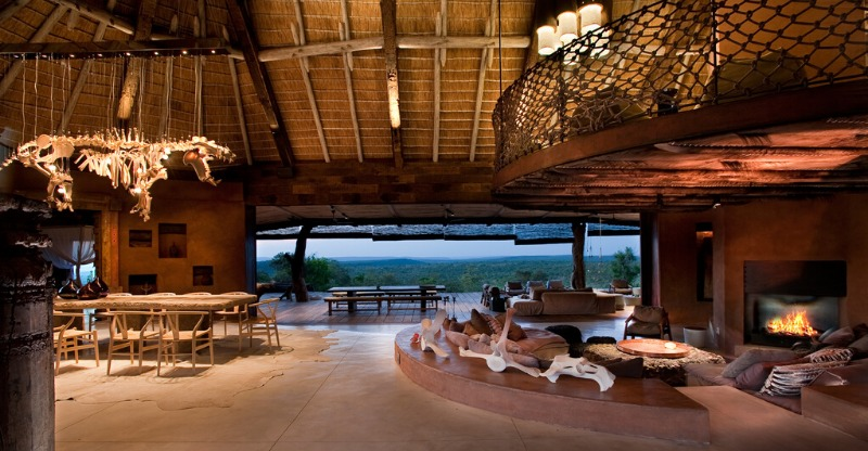 Stunning dining and seating area in the Leobo Private Reserve