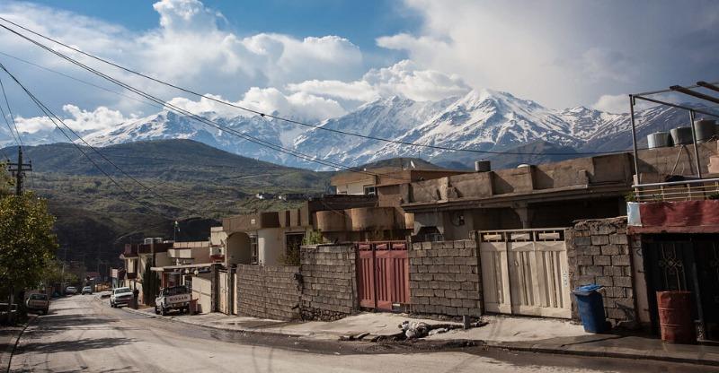 Iraqi Kurdistan town in the high altitude of the mountains