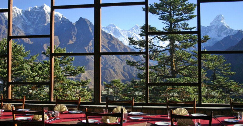 Dining room view of Everest