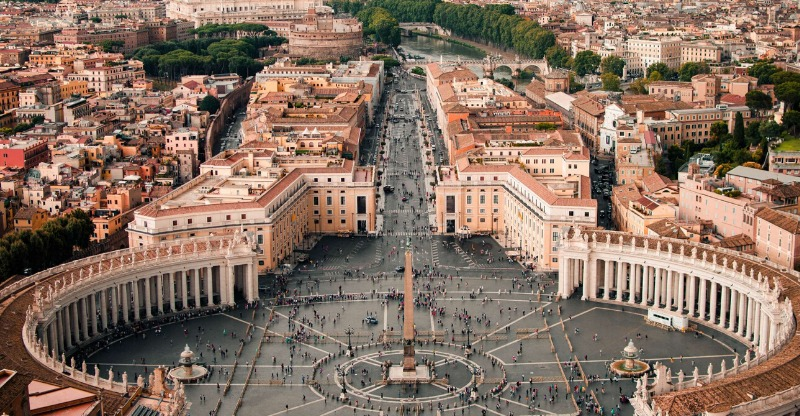 Aerial view of the Vatican city