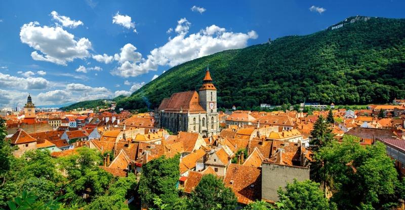 Town landscape of Transylvania Romania- Mountains, Monasteries & Medieval Cities
