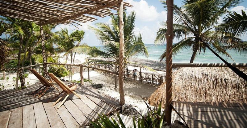 Beach front views at the Papaya Playa Project
