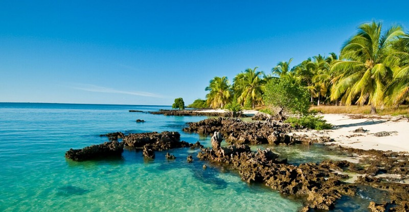 Stunning beaches and corals off Mozambique