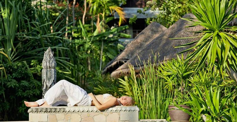 A women relaxing at Kamalaya Detox Spa