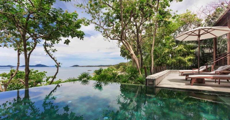 Pool overlooking the sea at Kamalaya Detox Spa