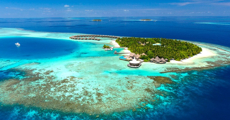 Baros Maldives Luxury Resort Aerial view