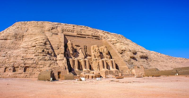 Abu Simbel under the blue sky