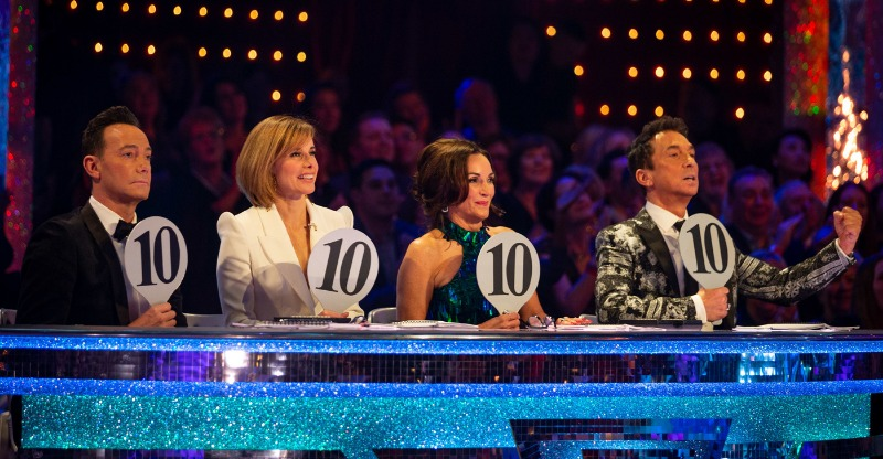 The judging panel at Strictly Come Dancing