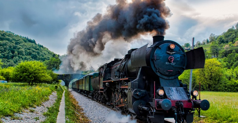 Slovenian Steam Train Journey