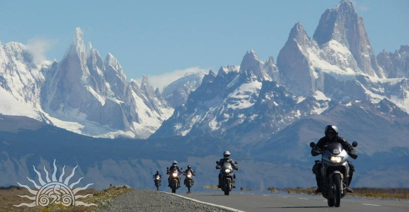 Riding through the stunning mountain scenery of Ruta 40