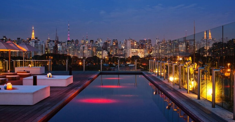 Hotel Unique Sao Paulo the red swimming pool