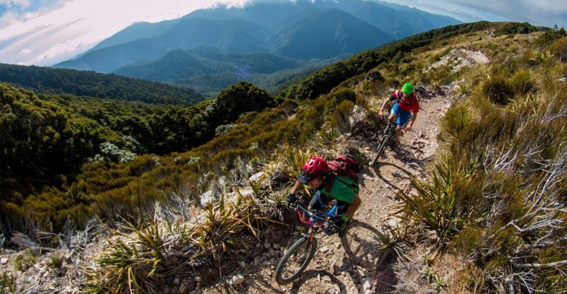 Riding the windy pathways on the Stairway to Heaven Mountain Biking