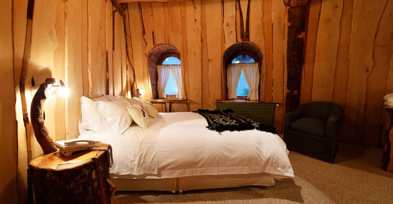 Rustic Wooden Bedrooms at the Magic Mountain Lodge
