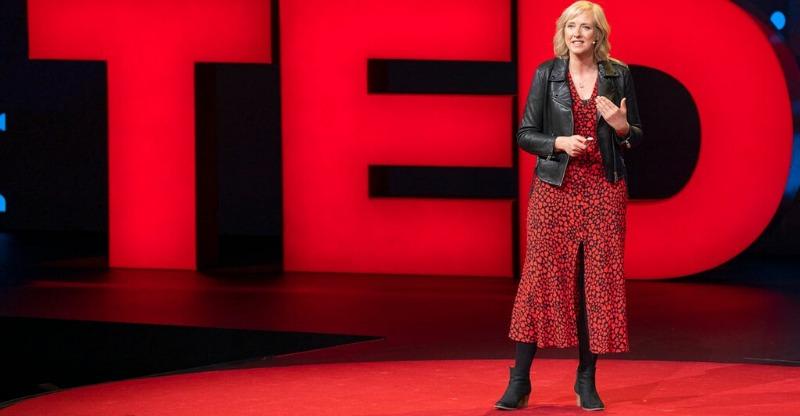TED Talks Conference speaker on stage
