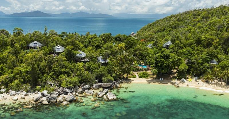 Crystal clear waters at Bedarra Island resort
