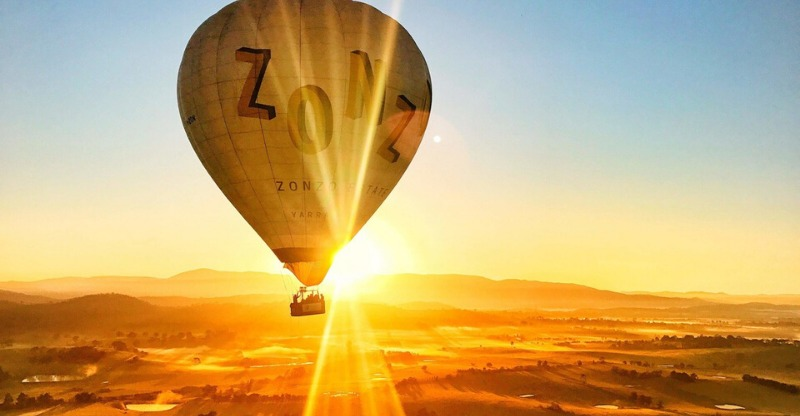 Incredible sunrise with Yarra Valley Ballooning