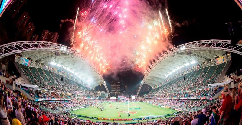 Hong Kong 7's stadium fireworks display