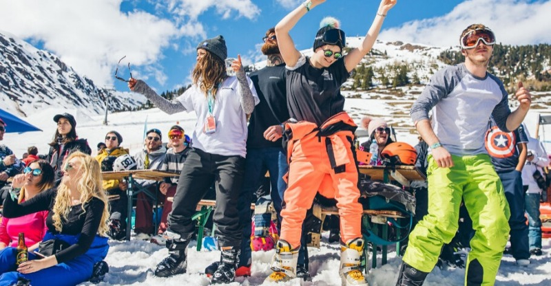 Partying at The Brits Ski Festival
