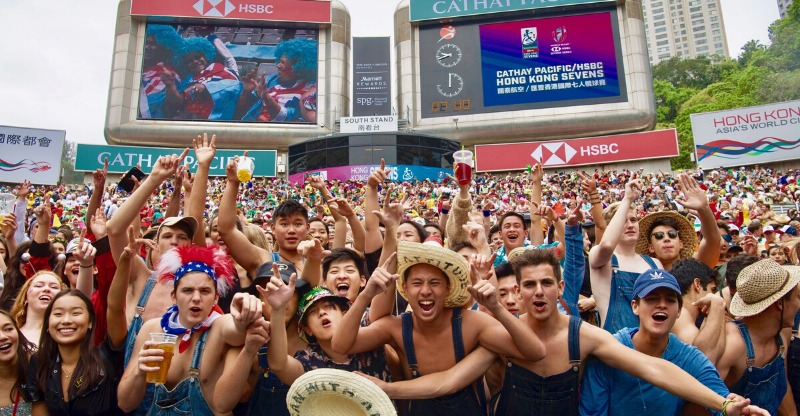 Fancy dress and partying at the Hong Kong 7's tournament